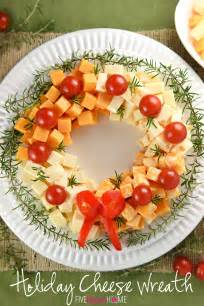 holiday cheese wreath