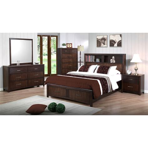 oak bookcase headboard edison king storage bed bookcase headboard java oak