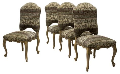Patterned Fabric Dining Chairs 4 Highback Dining Chairs Patterned Fabric June 2017 Estates Auction Day One