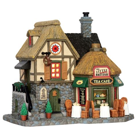 lemax the little british tea cafe lighted building