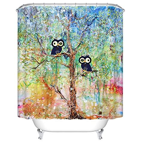 owl fabric shower curtain owl shower curtains kritters in the mailbox owl shower
