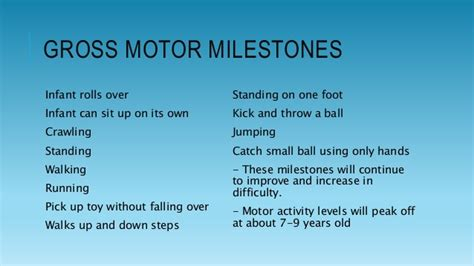 gross motor skills are defined by and gross motor development