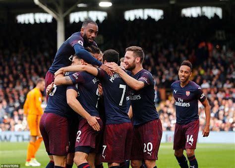 Liga Inggris 5 hasil liga inggris 2018 fulham vs arsenal 1 5 the