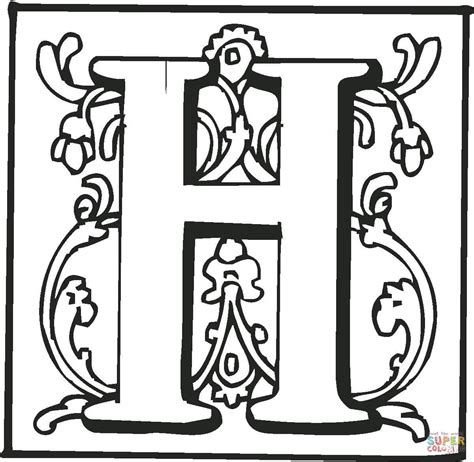 coloring page letter h letter h to color kids coloring europe travel guides com