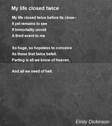 emily dickinson biography poetry foundation my life closed twice poem by emily dickinson poem hunter