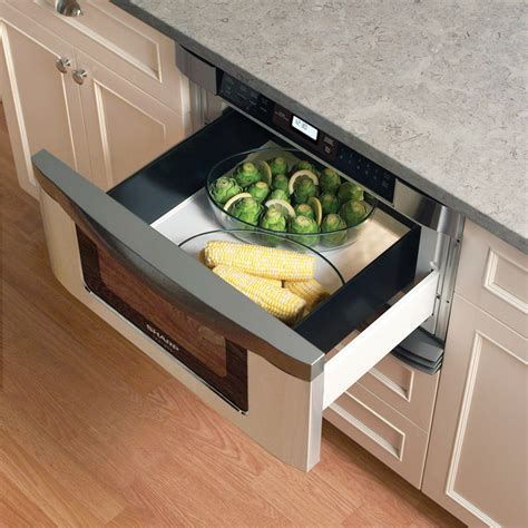 Microwave Oven Drawer Style by Sharp Kb6001ns 1 0 Cu Ft Built In Microwave Drawer With