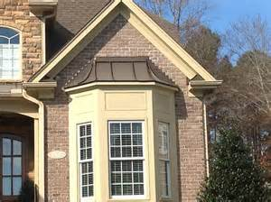 metal roof over bay window custom preassembled roofs for bay windows and bow windows