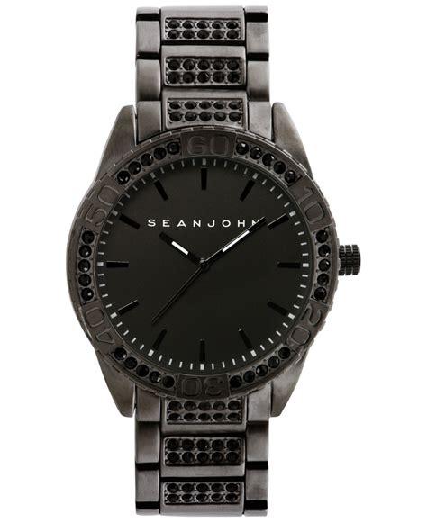 Sean john Men's Stone Accent Black tone Bracelet Watch 54x48mm 10021787 in Black for Men   Lyst