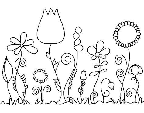 imagenes para colorear jardin jardin de flores para colorear imagui