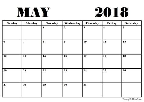 may 2018 calendar may 2018 blank calendar printable