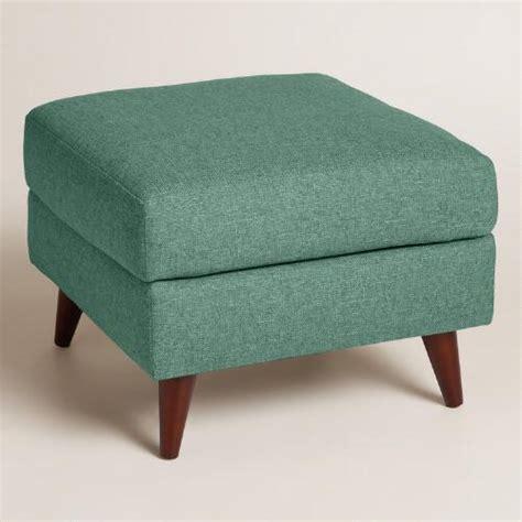Chunky Woven Jorna Upholstered Ottoman World Market Cost Plus Ottoman