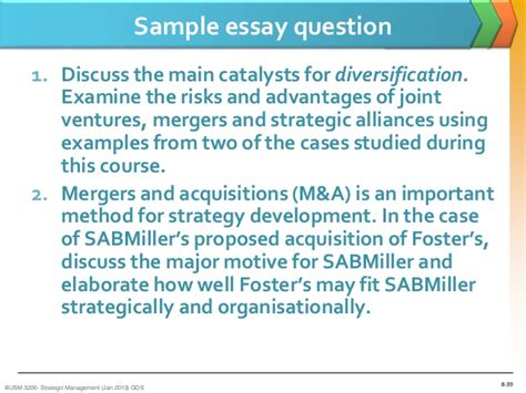 mergers and acquisitions dissertation topics sm lecture eight mergers acquisitions and alliances