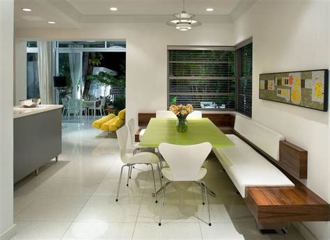 modern banquette seating for dining room and