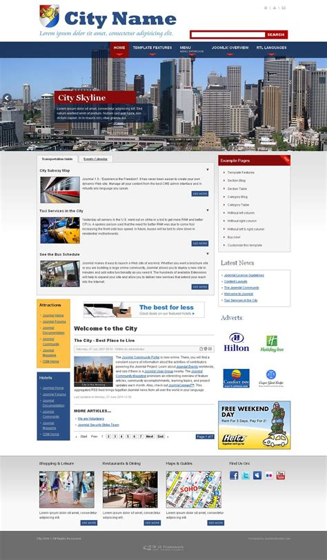 template joomla portal news jm city joomla city portal news template joomla monster