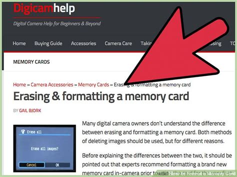 memory card template 4 ways to format a memory card wikihow