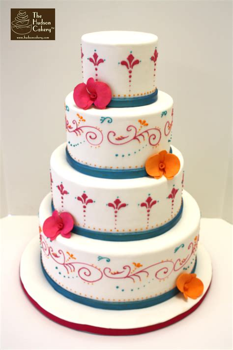 Colorful Wedding Cakes by Bright Indian Wedding Cake Weddings The Hudson Cakery