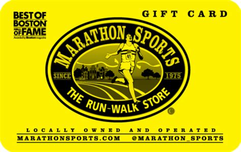 Marathon Gift Card - gift cards the gift of fitness