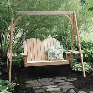 porch swing with stand great american woodies 4 ft cypress savannah porch swing