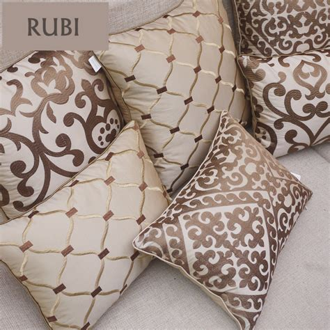 luxury throw pillows for sofas european embroidery cushions luxury decorative throw