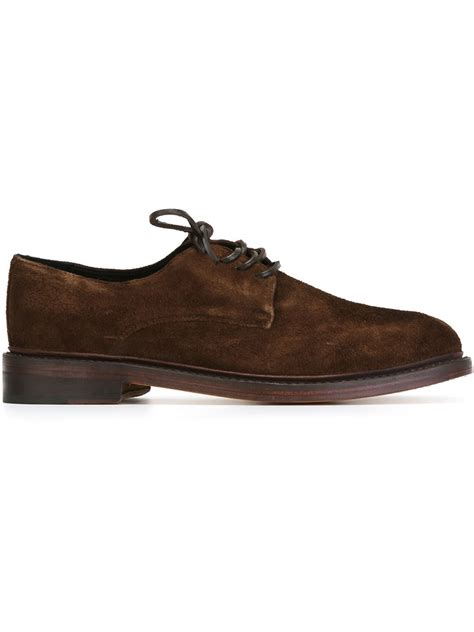 ymc shoes lyst ymc suede derby shoes in brown for