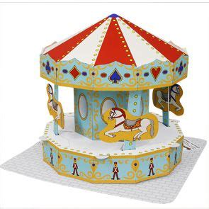 merry go template printable 3d paper merry go printable pdf template
