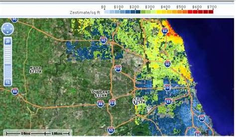 zillow s chicago real estate prices map chicago metro area