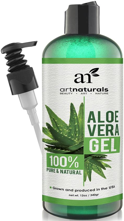 artnaturals aloe vera gel for hair certified