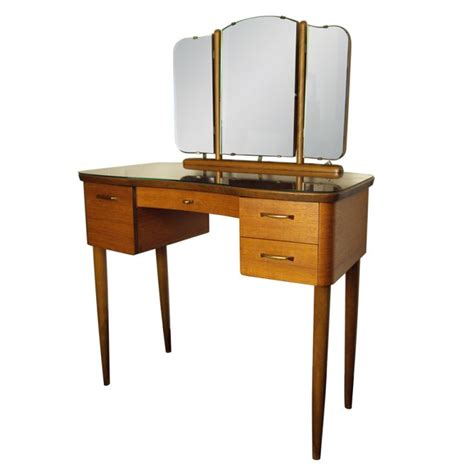 mid century swedish modern dressing table vanity with