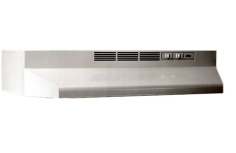 non ducted bathroom fan broan 24 quot bisque non ducted under cabinet hood 412402