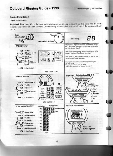 Yamaha Outboard Digital Multifunction Gauge Wiring Diagram