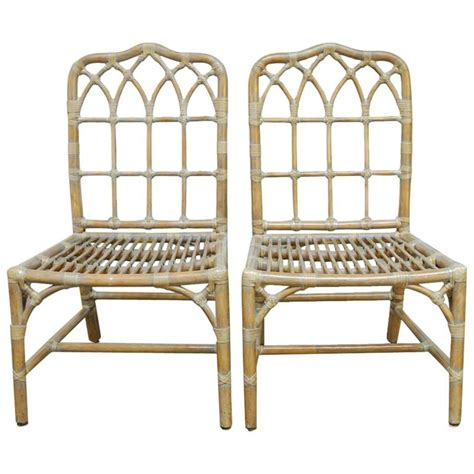 bamboo chippendale chairs pair of mcguire chippendale bamboo dining chairs
