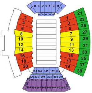 tech stadium map stadium seating chart stadium map my