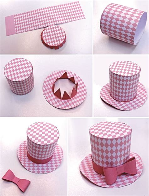 How To Make Paper Hats For Adults - mini top hats pastel favors and patterns