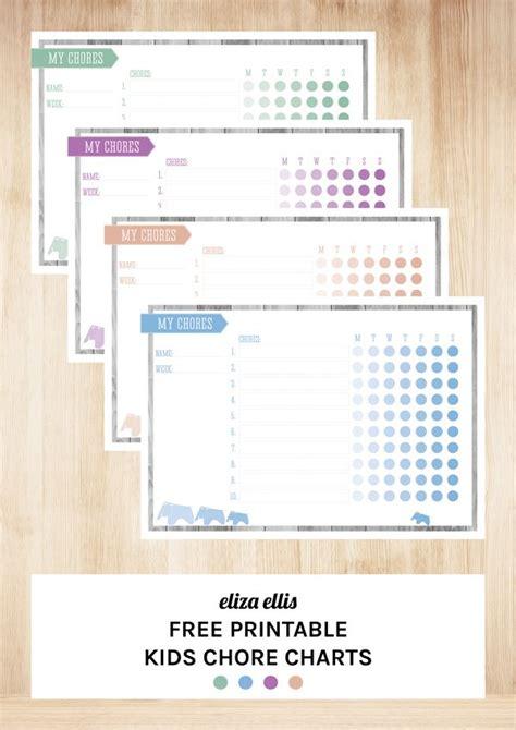 printable chore organizer free printable kids chore charts by eliza ellis digital