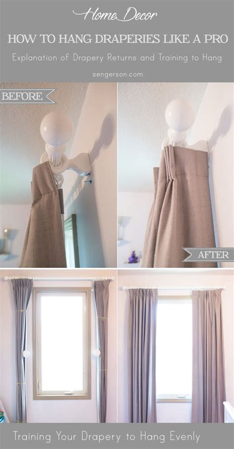 curtain hanging ideas best 25 hang curtains ideas on pinterest how to hang