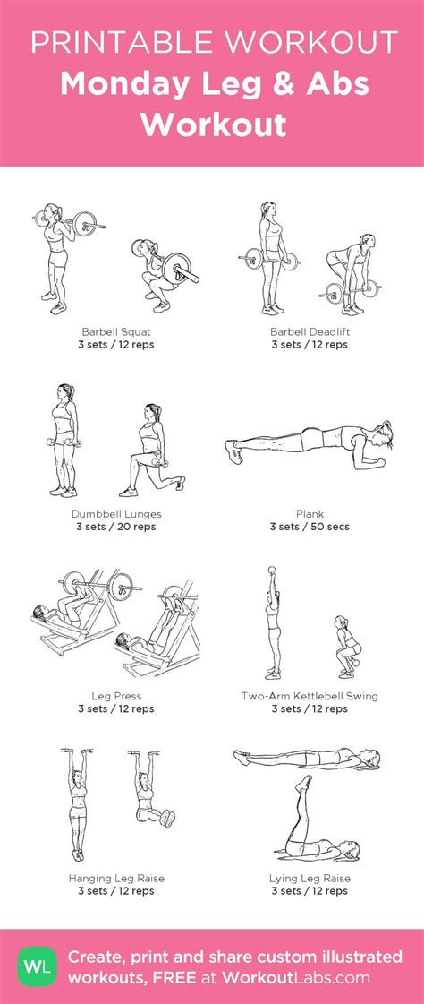 printable workout plan with pictures free ab workout printables eoua blog