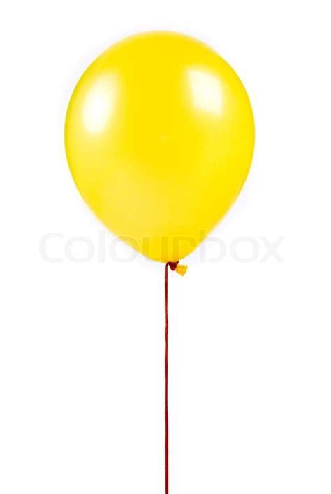 Yellow balloon on white background stock photo colourbox