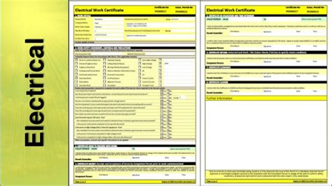 Electrical Isolation Certificate Template q4 product engineering demo