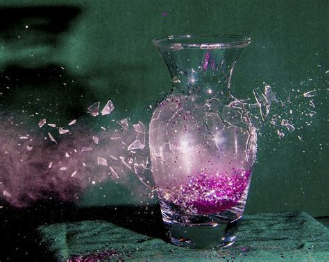 Broken Glass Vase by Broken Vase Shatter