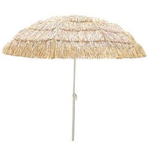 Tiki Patio Umbrella by New Thatched Grass Skirt Look Umbrella Yard Tiki Bar