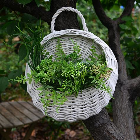 decorative garden hanging baskets compare prices on wicker hanging basket online shopping