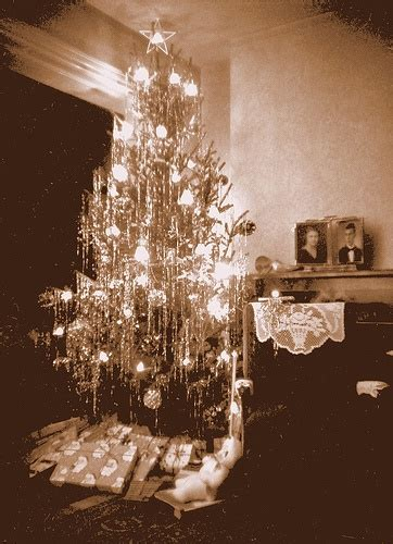 vintage tinsel tinsel christmas trees pinterest