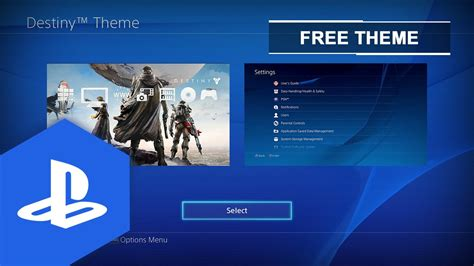 ps4 themes uk release ps4 us uk destiny static theme youtube