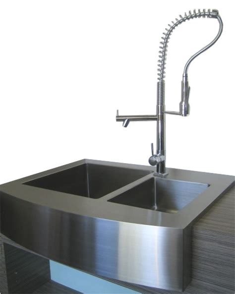 40 Inch Kitchen Sink 36 Inch Stainless Steel Curved Front Farm Apron 60 40 Offset Bowl Kitchen Sink 15mm