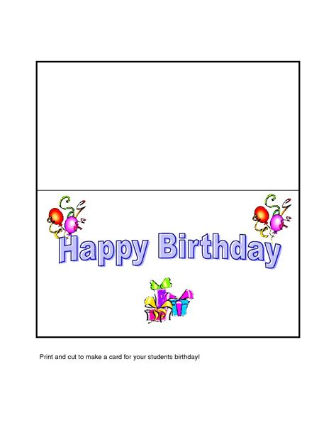 printable birthday card template word gift box templates free printable card invitation sles
