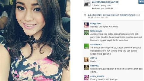 pertikaian antara aurel dan krisdayanti instagram aurel instagram artis ini foto seksi aurel yang bikin netizen