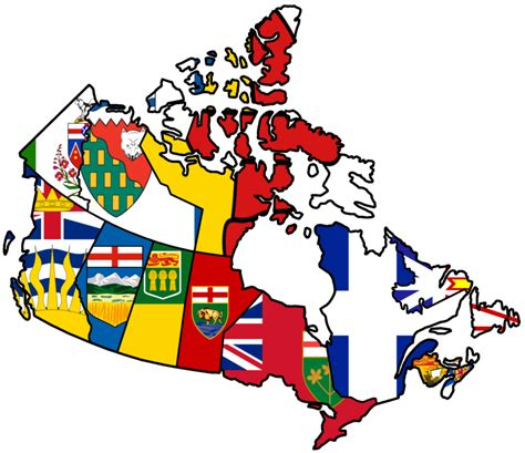 canada map with flag luck scotland