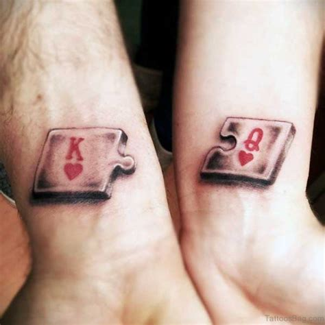 king and queen of hearts tattoo 48 king and tattoos for wrist