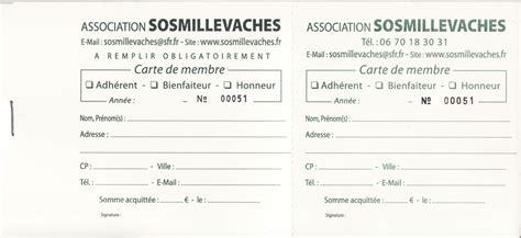 Carte De Membre Association Modèle