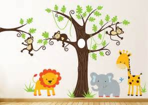 cute jungle design walls modern stickers for kids bedroom wall look beautiful decor